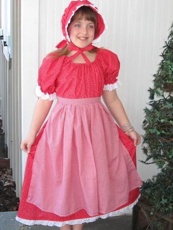 Girls Prairie Pioneer Civil War Reenactor by MaidenLaneBoutique