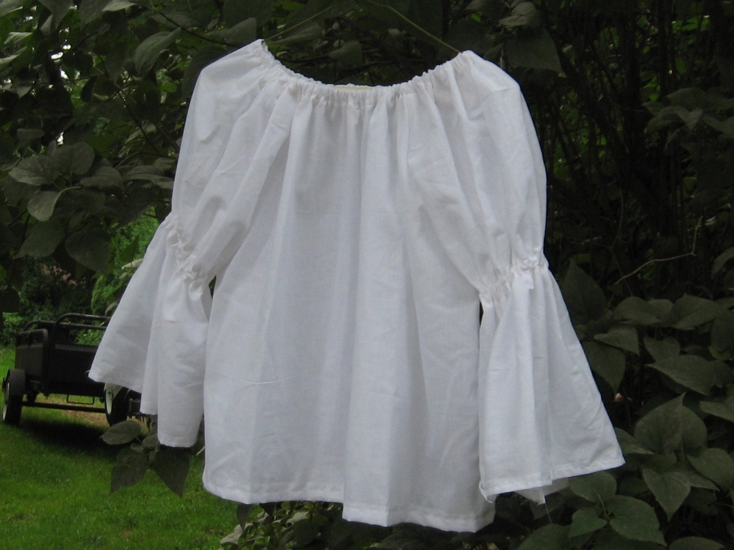 Blouse Peasant White 15