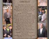 NCIS Gibbs Rules Collage Frame