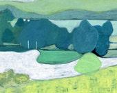 archival fine art giclee print . landscape . the river