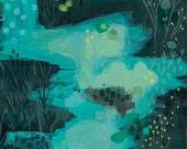 archival fine art giclee print . night vision