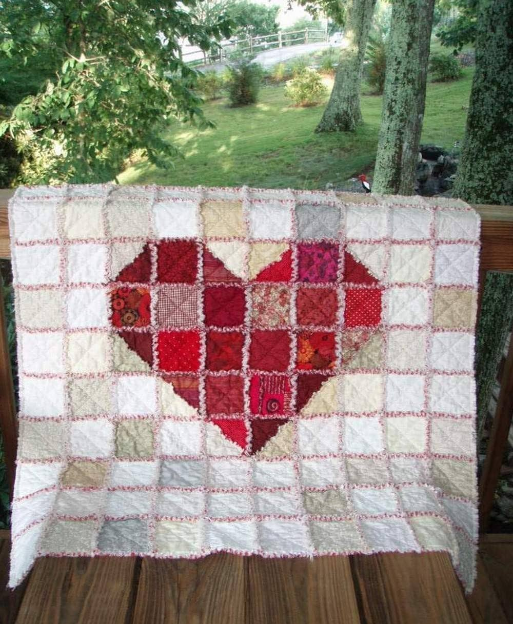 Heart Of Hearts Rag Quilt Free Shipping
