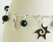 Starry Night Sterling Silver Charm Bracelet
