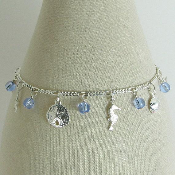 Blue Sea Sterling Silver Charm Bracelet