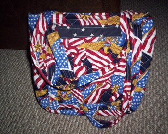 Patriotic Fourth of July Americana celebration quilted purse