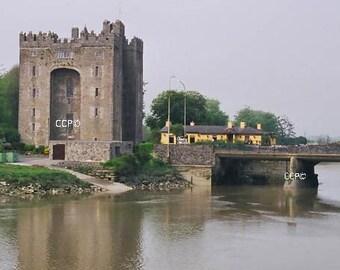 Irish Castle, Bunratty Castle, Durty Nellys, Irish Pub, Ireland Architecture, Fine Art Photography, Wall Decor, Irish Decor, Blue And Green