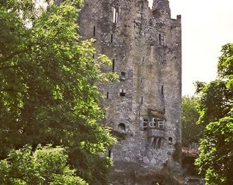 Castle Photograph, Ireland Architecture, Blarney Castle, Irish Castle Photo, Landscape Print, County Cork, Wall Decor, Fine Art Photo