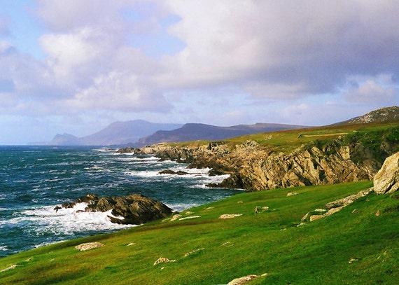 Achill Island Irish Photography Blue Green And Purple Ireland Photography Irish Landscape Atlantic Coast Nature Photography Fine Art Photo