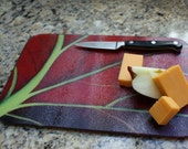 Red Leaf - Kitchen Trivet - Cutting Board - Hot Plate - Serving Plate