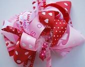 boutique FUNKY FUN VALENTINE hair bow clip