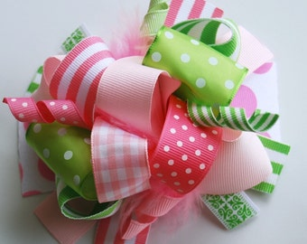 boutique PINK limeaide FUNKY FUN hair bow clip