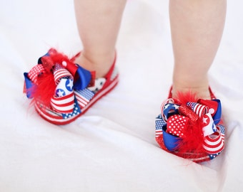 NEW boutique ALL AMERICAN funky fun flip flops