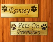Personalized pet signs with paw prints crafting for pets everywhere