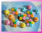 Bright Flower Polymer Clay Scapbooking Charm Bead