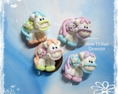 Little Pony Polymer Clay Charm Bead, Scrapbooking, Bow Center, Pendant, Cupcake topper, Magnet