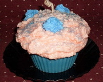 Cupcake Candle Cotton Candy Frosting
