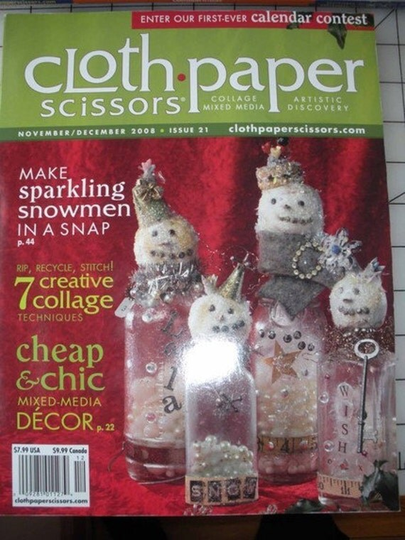 MAGAZINE Cloth Paper Scissors November December 2008