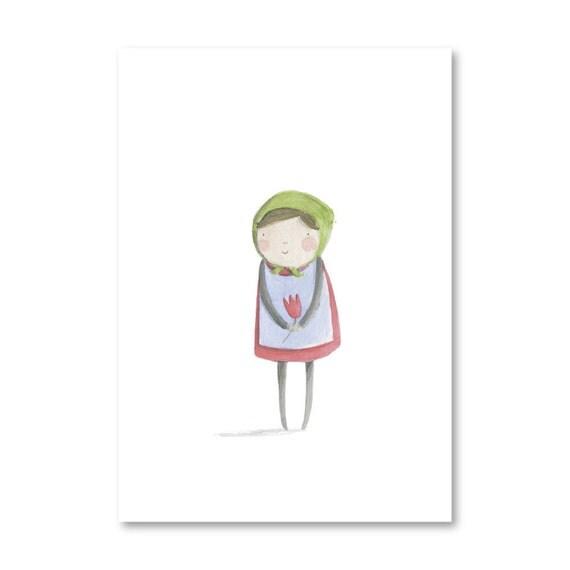 Babushka Greeting Card