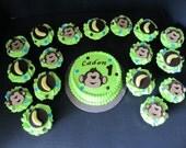 Monkey fondant Cake Toppers Set