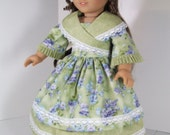 1850's Crossover collar dress for Marie Grace or American Girl Cecile
