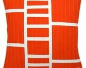 Modern Throw Pillow - Tangerine Ladder
