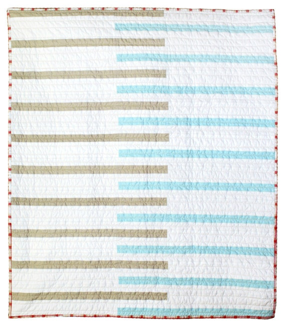 Custom listing for erica normand - Modern Baby Quilt - Keyboard
