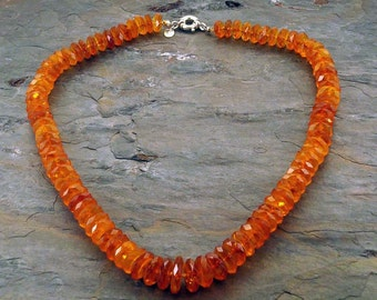 Faceted Amber Necklace