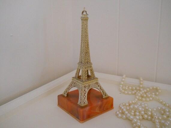 vintage eiffel tower souvenir de paris, made in france.