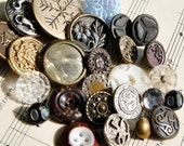 Antique Buttons Large Group of 26 Instant Collection Victorian   C13