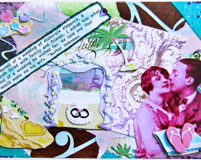 Make Me His Wife, Collage Greeting Card, Size 5x7, Blank Inside, Card Print