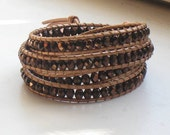 LUXE Luu - 4x Leather Wrap Bracelet - Copper Goddess