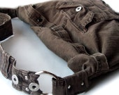 Recycled Cargo Pant CrossBody Hobo Bag