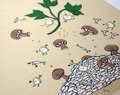 Mushroom Risotto- Signed Archival Print of Original Illustration