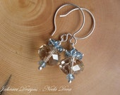 FINAL SALE Neela Deva - Champagne Citrine and London Blue Topaz Earrings