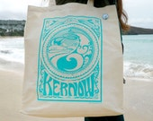 KERNOW Screenprint Beach / Shopper / Tote Bag