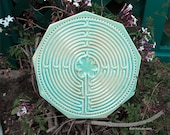 Chartres Finger Labyrinth in Sea Ice Blue Green