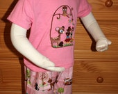 Walk in the Woods - Embroidered Tee and Shorts Set - 3T