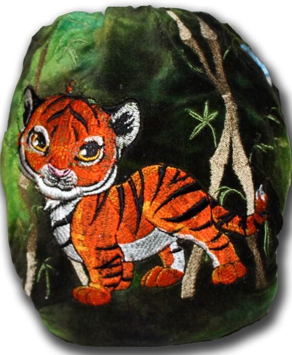 Baby Tiger - M/L BedBug Plus Organic Bamboo Velour Night Time Cloth Diaper