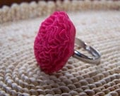 Black Friday thru Cyber Monday- Free Shipping- Ruffled Ring - Raspberry Romance Collection (With Gift Box)