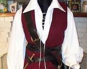 Pirate mens Renaissance Buccaneer Mate custom Costume