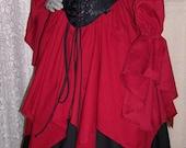 Renaissance Corset Pirate Halloween Witch Elfin custom  Dress Gown
