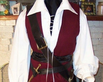 Pirate mens Renaissance Buccaneer Mate custom Costume