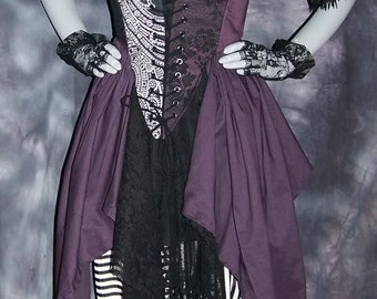 Wicked Renaissance Pirate Gown Dress costume naughty Wench Womens Witch