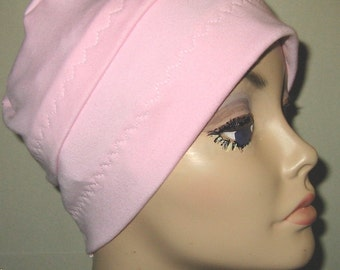 Cancer, Chemo Hat, 3-Band Pink, Hair Loss, Turban