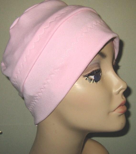 Cancer, Chemo Hat, 3-Band Pink, Hair Loss, Turban