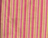 DESTASH Fabric Yardage - Summer Citrus Stripes - One Yard