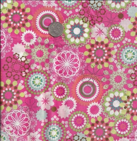 DESTASH Fabric Fat Quarter . Muted Pink Floral