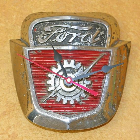 Clock Vintage 1950 S Ford Truck Emblem
