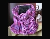 Scarf Multicolored Soft  Yarn Neck Cowl Heart