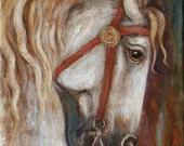 Horse Painting Medieval  Carousel horse  Fairytale